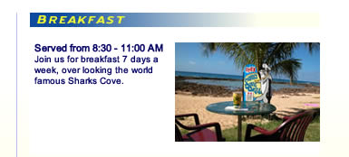 Sharks Cove Grill Breakfast