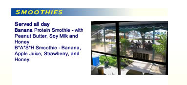Sharks Cove Grill Smoothies